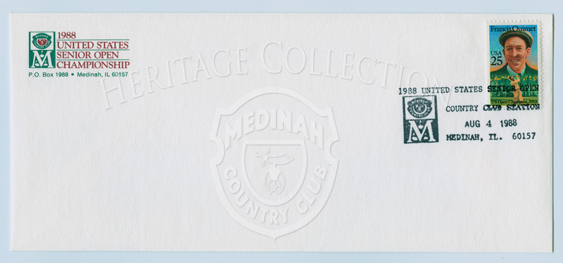 Envelope, 1988 U.S. Senior Open, stamped Aug 4, 1988Standard size A4 envelope - 4 1/8÷ x 9 1/2÷