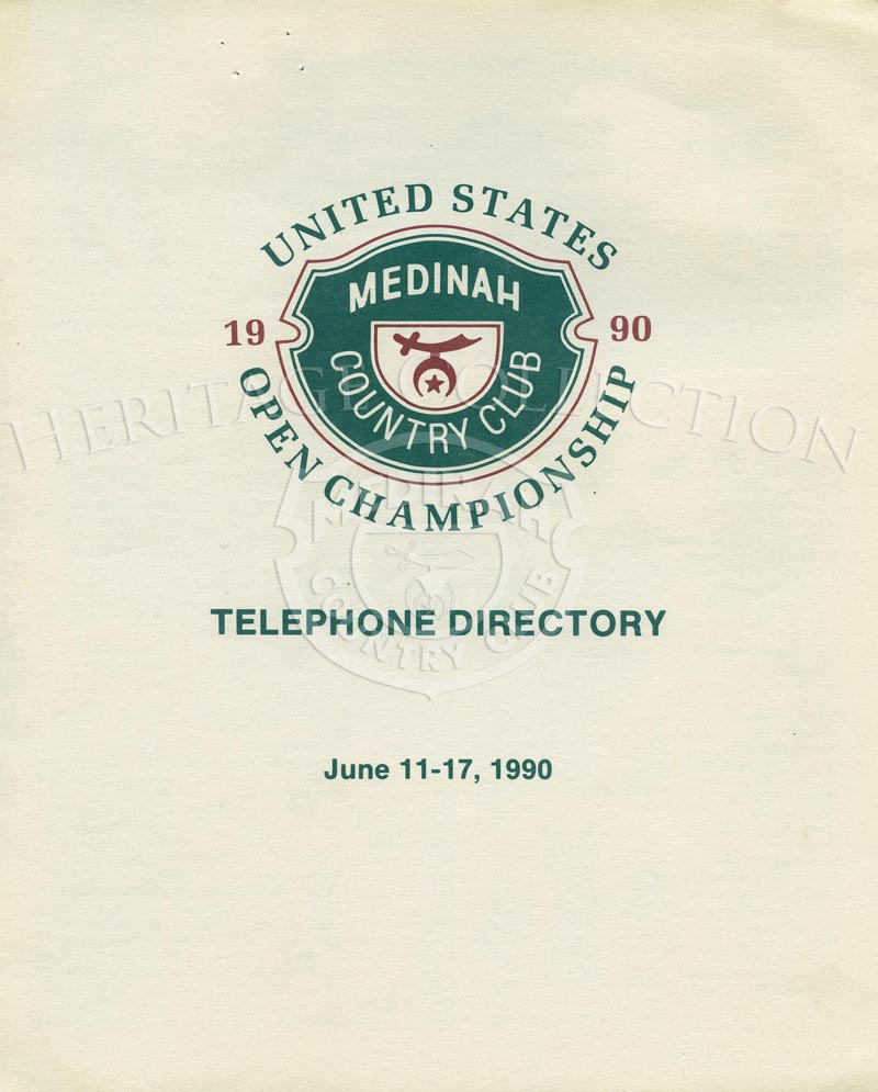 1990 U.S. Open - Medinah Telephone directory, June 11-17, 1990Printed booklet, 4 pages total.Size - 7÷ w x 8.5÷ h.