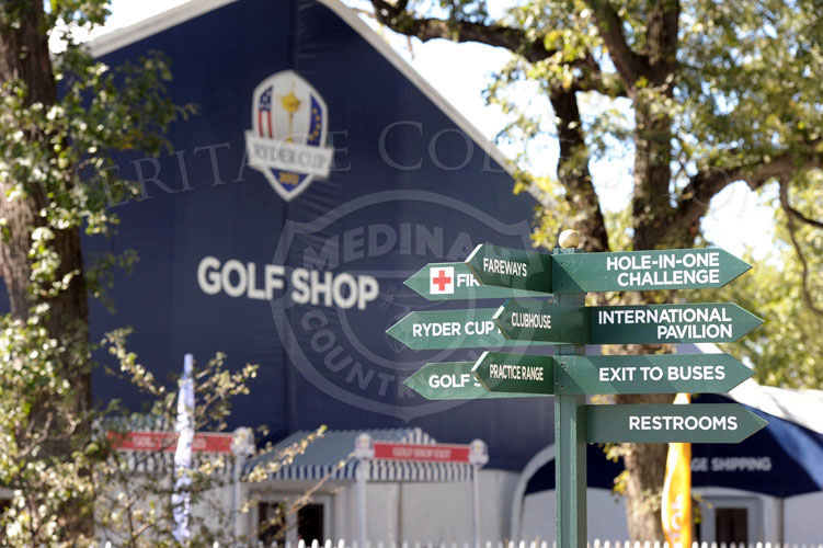 Signage for spectators, Ryder Cup 2012