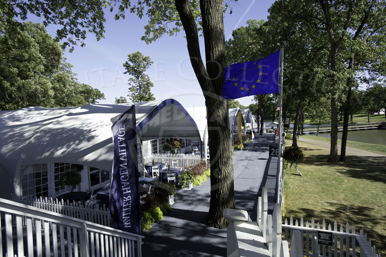 Corporate villa's located at the 13th green during the Ryder Cup.